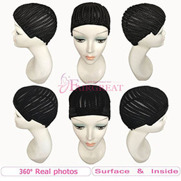Wholesale Hair One Full - Braided Cap for Crochet Braids or Weaves Adjustable Straps DIY Hair Wig Weaving Cap One Size Fit All Net Mesh Full Cap