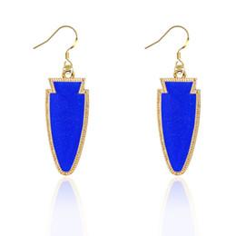 Wholesale popular gems - Hot Popular Druzy Earrings Gold Plated Gem Stone Cone Dangle Earrings for Lady Women Jewelry 8colors