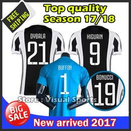 Wholesale Thai Quality Free Shipping - Top thai quality jersey 2017 2018 PJANIC DYBALA HIGUAIN buffon MARCHISIO ZAZA jersey 17 18 man shirts free shipping