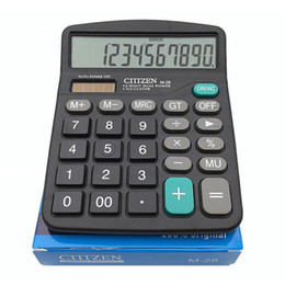 Wholesale Electronic Calculators - Portable Office School Commercial Tool Battery or Solar 2in1 Powered 12 Digit Electronic Calculator with Big Button, Retail box packaging