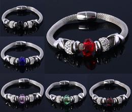 Wholesale Silver Disco Ball Ring - New Fashion Disco Ball Charm Bracelet For Women Glass&Crystal European Charm Christmas bead bracelets Gift Jewelry