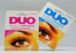 Wholesale Glue Water - Hot Adhesive DUO Eye Lash Glue False Eyelashes Clear White & black Makeup Adhesive WATER PROOF Eyelash Adhesive 9G Makeup Tools