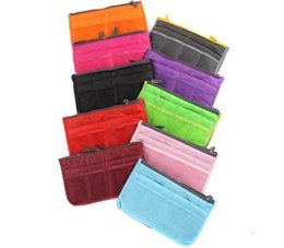 Wholesale Double Make Up Bag - Hot sale wholesale 10 colors double zipper Women Men Casual travel multi functional Make up Cosmetic Bags wa4196