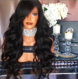 Wholesale Short Wig Cap - Front Lace Wigs Malasian Human Hair Lace Front Wigs Black Women Body Wave Lace Frontal Wig Cap 130% Density Human Hair Wig