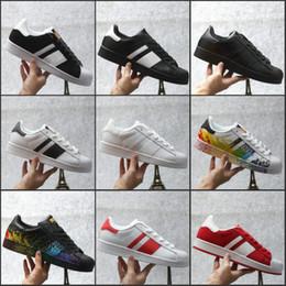 Wholesale Sizes Juniors - 2017 Superstar Cheap Wholesale Hologram Iridescent Junior Superstars Sneakers Super Star Women Men Sneaker Running Shoes Size 36-45