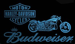 Wholesale motor lead - LS1959-b-Halley-Davision-Motor-Budweisers-Bar-Neon-LED-Light-Sign.jpg