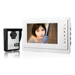 "Wholesale Camera Outdoor Tft - Xinsilu 7"" TFT LCD Monitor IR Outdoor Camera Color Video Door Phone Intercom System Doorphone V70F-L"