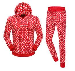 Wholesale Tracksuit Fleece Girls - Have logo ! New Fashion Women men Hooded fleece Jacket Students Sweatshirts tracksuit 2018 Brand Unisex Boys and girls coat tops with pants