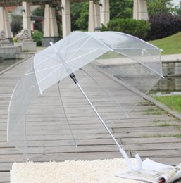 Wholesale Transparent Umbrella Gossip Girl - Clear Cute Bubble Deep Dome Umbrella Gossip Girl Wind Resistance transparent Mushroom Umbrella Weeding Decoration KKA2114