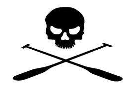 Wholesale Evil Decal Sticker - Wholesale Pirate skull evil terror oars styling car sticker For Window Truck Bumper SUV Laptop Racing Vinyl Decal Ghost Ship graphics Art