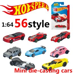 Wholesale Diecast Model Car Jeep - hot wheels Mini Alloy cars metal Basic Cars Diecast Vehicle model 1:64 Racing car Sports car convertible jeep Collection kids toys wholesale