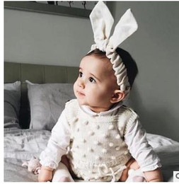 Wholesale Dot Cardigan Girls Baby - Baby rompers INS boys Girls suspender Pompon bows Bandage Cardigan romper Infants Autumn winter jumpsuits children clothing G0516