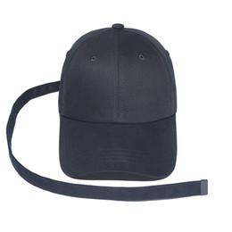 Wholesale Spring Curls - Baseball cap Peaceminusone Long Strap Belt Snapback GD hats for men women brand hip hop golf dad caps sun sport visor curled peak