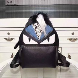 Wholesale Cute Lovely Bags - Genuine Leather Unisex Fashion Backpack Cheap Lovely Pretty Style Medium School Bags with Cute Cartoon Pattern