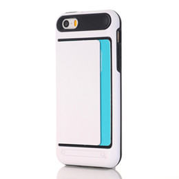 Wholesale Iphone5 Accessories - 10PCS Phone Case Accessories For iphone 5 5s 5SE Soft TPU+PC cardslot back cover for iphone5 5s 5SE cases 2017 hot sale