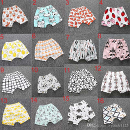Wholesale Girl Panda - Hot Selling Ins New Baby toddler boys girls ins pants Leggings Bee Panda Zoo embroidered Sabrina pant Cropped Trousers boys Harem Shorts