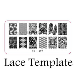 Wholesale Template Stamp - Wholesale-Explosion models nail products nail stamping image plate print templates feather bc-009X