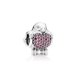 Argentina Se adapta a Pandora Charm Bracelet Robin pájaro rojo perlas de cristal de plata esterlina cuelga DIY joyería hecha a mano para Chamilia encantos de las mujeres europeas cheap chamilia bracelets charms Suministro