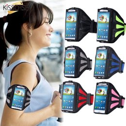 Wholesale Running Case Galaxy S3 - KISSCASE Fashion Outdoor Sport Gym Arm Band Running Phone Case For Samsung Galaxy S6 Edge S7 S5 S4 S3 A3 A5 J1 J2 J3 J5 Cover