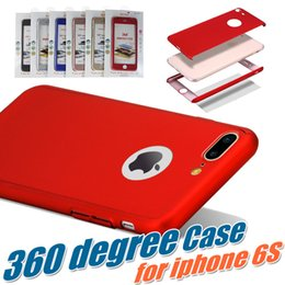 silver tempered glass iphone Canada - 360 Degree Full Coverage Hard PC Case For iPhone X With Tempered Glass Back Cover With Hole For iPhone 8 7 Plus 6 6S With Package MOQ:100pcs
