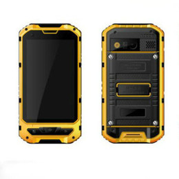 Wholesale Smartphone Android Quad Core Rugged - A8 phone IP68 Rugged Smart Phone Waterproof unlocked cell phone A8 MTK6582 Quad Core 1GB RAM 8GB Senior shockproof smartphone Big Lould Hot