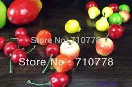 Wholesale Display For Supermarket - estive Party Supplies Decorative Flowers Wreaths MINI Artificial fruit for restaurant home supermarket decoration fruit model props cher...