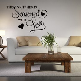 Wholesale Love Wall Stickers For Bedrooms - About Wall Quote Sticker This Kitchen Is Seasoned With Love Removable Wall Bedroom Art Sitting Room Decor Vinyl Decal