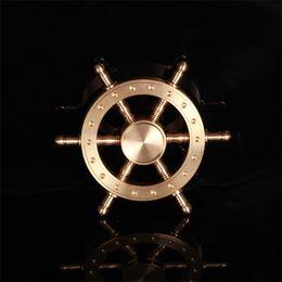Fidget Spinner Tekne Dümen El Spinner Fidget Oyuncak Alaşım Spinner EDC Dekompresyon Oyuncak Direksiyon Tasarım Hediyeler Çocuklar Yetişkinler Için cheap steering wheel toys nereden direksiyon oyuncakları tedarikçiler