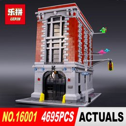Wholesale Model Kit Set - DHL Free shipping LEPIN 16001 4695Pcs Ghostbusters Firehouse Headquarters Model Building Kits Model set brin quedos 75827