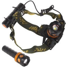 Wholesale Rechargeable Strobe Flashlight - Mutifunctional 800LM CREE XPE LED Head lamp Adjustable and Rechargeable 2 in 1 Headlamp & Flashlight LEG_589
