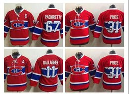 Wholesale Max Prices - 2017 Boys Kids Montreal Canadiens Youth Hockey Jerseys 31 Carey Price Kids Home Red Carey Price 11 BRENDAN GALLAGHER 67 Max Pacioretty Lace