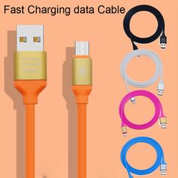 câble de données clignotant Promotion Flash de charge rapide TPE Câble de données USB élastique pour câble pour Samsung s7 LG SONY chargeur alliage métallique 1.2M DHL Free CAB176