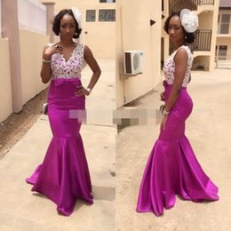 Wholesale Winter Outfits For Party - 2016 african wedding guest gowns bridal outfits purple bridesmaid dresses for wedding evening dresses prom party dresses