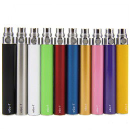 Wholesale Egot T - EGo T Electronic Cigarette Battery 11 Colors E Cigarette eGot Battery for 510 Thread Atomizers ECigrette 650mah 900mah 1100mah ego-t battery