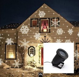 Wholesale Snowflake Decoration Purple - IP65 Waterproof Outdoor Christmas Lights Xmas Laser Light Snowflake Color White Projector LED Lights Romatic Lawn For Home Decoration ZA1561