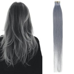 Wholesale Seamless Weft Extensions - 7A Grade Malaysian Straight Virgin Hair Weaves Seamless Remy Human Hair Tape In Skin Weft 20 Pieces 30g Silky Smooth Hair Extensions