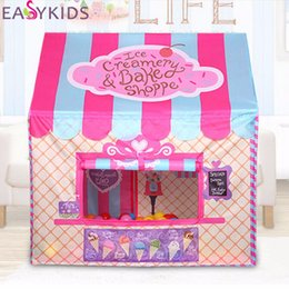 Wholesale Kids Foldable Play Tent - Wholesale- Kids Play Tent Foldable Portable Girl Princess Castle Indoor Outdoor Play Tents Playhouse For Children Best Gifts
