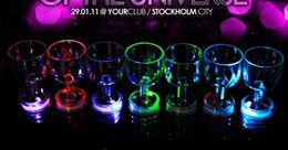 Wholesale Goblet Lamp - Hot selling!!24PCS lot Colorful LED flash cup Acrylic Cup Flashing Rocks Glass Barware Lamp goblet free shipping
