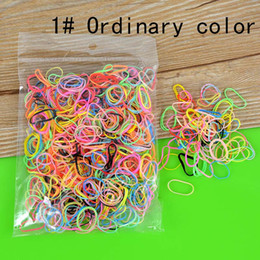Wholesale Hair Rubber Band Baby - Wholesale- 1000pcs Tiny TPU Elastic Rubber Hair Bands for Doll Reborn Baby Kid Girl