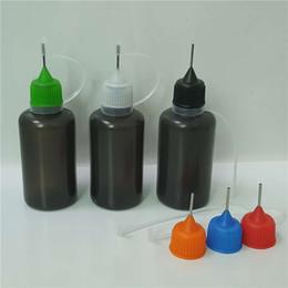 2019 bouteilles d'éprouvettes en plastique Bouteille à aiguille liquide 30 ml E Bouteille à compte-gouttes translucide Ejuice souple en plastique PE huile en plastique avec trou d'aiguille en métal bouteilles d'éprouvettes en plastique pas cher