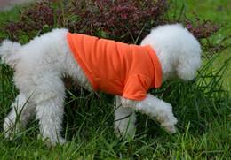 Ropa de cachorro de polo online-Pet Dog Cat Puppy Polo Camisetas Traje Ropa Outfit Ropa Abrigos Tops Ropa Tamaño XS S M L XL Envío gratis