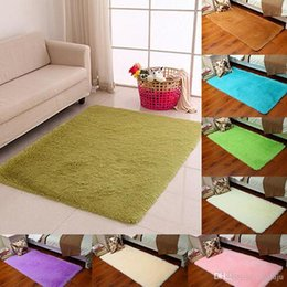 Wholesale Polyester Shaggy Carpets - Top Quality Non-slip Carpet Fluffy Rugs Anti-Skid Shaggy Area Rug Dining Room Home Bedroom Carpet 9 Colors Floor Mat 40-200 CM Free Shipping