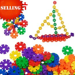 Wholesale Snowflake Blocks - Hot Sale 112pcs Lot 3cm High Quality Plastic snowflake toy Gear Flakes Creative Disc Set Building Blocks Wholesale Environmental protection