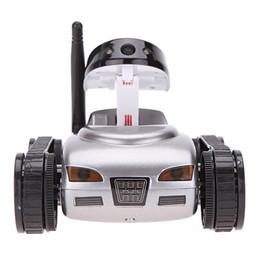 Wholesale Wireless Cars Toys - HappyCow 777-270 I-SPY Mini RC Tank 0.3M HD Camera Video Car Wifi Wireless Realtime iOS Android Remote Control iPhone Toys for Kids