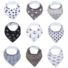 Wholesale Dribble Bibs Wholesale - Wholesale- 9Pack 100% Cotton Baby Bandana Drool Bibs Infant Babador Soft Absorbent Teething and Dribble Bib with Adjustable Snaps for Baby