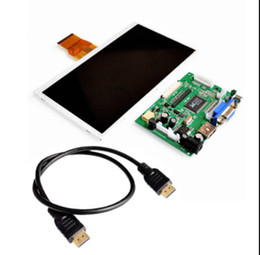Wholesale Raspberry Screen - Wholesale-Free shipping! 7 inch Raspberry Pi TN LCD With HDMI VGA AV Screen Display Module + HDMI to HDMI interface cable