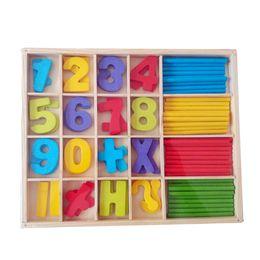 Wholesale Preschool Development - Wholesale- Brand New Colorful Montessori Teaching Math Mathematics Number Wood Board Preschool Educational Development Toy Child Gift W208
