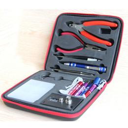Wholesale Complete Diy - Wholesale-Magic stick CW tool coil vape Complete kit E-cig master 6 IN 1 DIY jig vape tool kit PE Box ecig rda tool kit