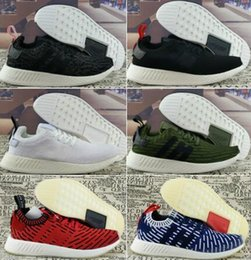Wholesale Picture Canvas Sizes - 2017 Real picture newest Athletic NMD R2 Runner PK Primeknit Running Shoes Men Women Mesh NMD XR2 nipple Boost Sports Shoes Size 36-45