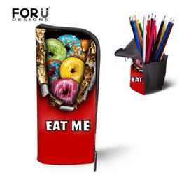 Wholesale Donuts Bag - Wholesale- Trendy Travel Travel Mukeup Bags for Women 3D Donuts Women Cosmetic Bag Organizer Make Up Case Storage Pencil Pen Box Coin